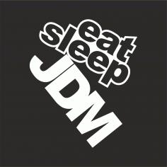 Eat Sleep Jdm Sticker Free CDR Vectors Art