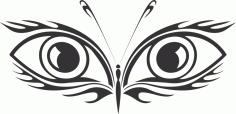 Butterfly With Eye Design Free CDR Vectors Art
