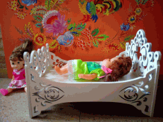 Baby Doll Cradle Or Crib Free CDR Vectors Art