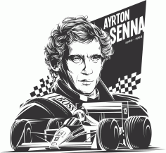 Ayrton Senna Free CDR Vectors Art