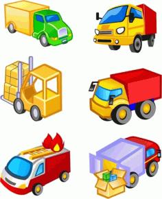 Transport icons Free CDR Vectors Art