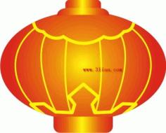 Red lantern Free CDR Vectors Art
