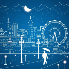 City and playgrounds outline Free CDR Vectors Art