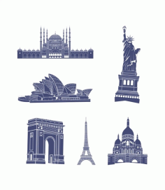 World architecture Free CDR Vectors Art