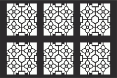 Decorative Grille Pattern Free CDR Vectors Art