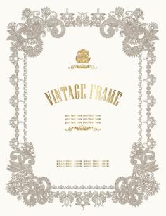 European pattern certificate template Free CDR Vectors Art