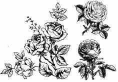 Handpainted flowers -01179631 Free CDR Vectors Art
