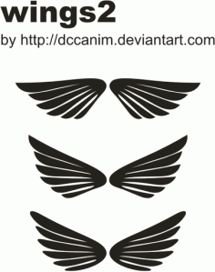 Dccanim_wings2 Free CDR Vectors Art