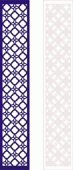 Laser Cut Seamless Panel Design-126 Free CDR Vectors Art