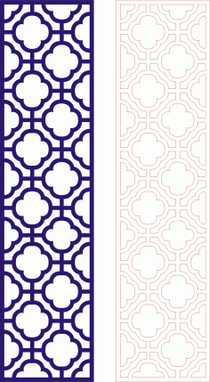 Laser Cut Seamless Panel Design-127 Free CDR Vectors Art