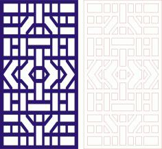 Laser Cut Seamless Panel Design-129 Free CDR Vectors Art
