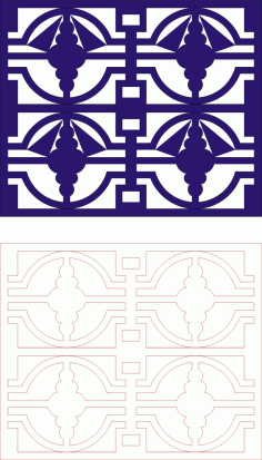 Laser Cut Seamless Panel Design-135 Free CDR Vectors Art