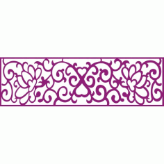 Cnc Panel Laser Cut Pattern File cn-h332 Free CDR Vectors Art