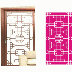 Cnc Panel Laser Cut Pattern File cn-h301 Free CDR Vectors Art