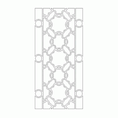 Cnc Panel Laser Cut Pattern File cn-h282 Free CDR Vectors Art