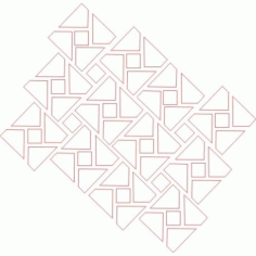 Cnc Panel Laser Cut Pattern File cn-h236 Free CDR Vectors Art