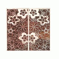 Cnc Panel Laser Cut Pattern File cn-h214 Free CDR Vectors Art