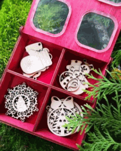 Tree Decorations Box File Download For Laser Cut Free CDR Vectors Art