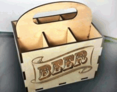 Beer Box Caddy File Download For Laser Cut Cnc Free CDR Vectors Art