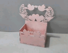 Box With Butterflies And Hearts File Download For Laser Cut Cnc Free CDR Vectors Art