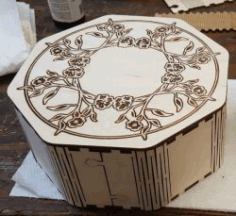 Octagon Box For Laser Cutting Free CDR Vectors Art