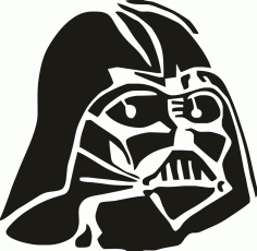 Darth Vader Stencil File Free CDR Vectors Art