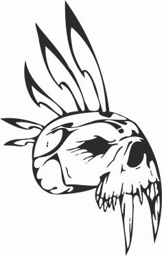 Epic Tribal Skull File Free CDR Vectors Art