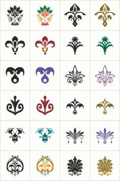 Floral Ornaments Set File Free CDR Vectors Art