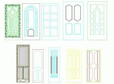 Panel Doors Design File Free CDR Vectors Art