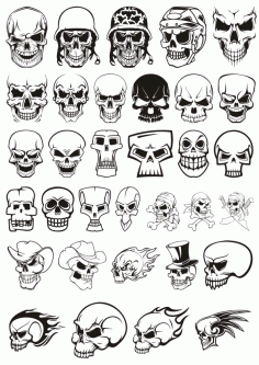 Skull Demon Or Evil Horror Pack File Free CDR Vectors Art