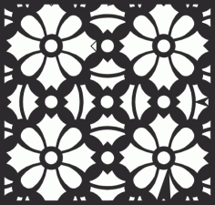 Square Floral Pattern File Free CDR Vectors Art