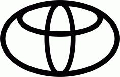 Toyota Logo File Free CDR Vectors Art