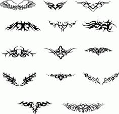 Wings Tattoo Set File Free CDR Vectors Art