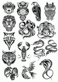 Animals Art Set File Free CDR Vectors Art