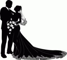 Bride And Groom Art File Free CDR Vectors Art