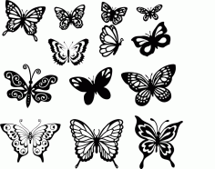 Butterfly Art Set File Free CDR Vectors Art