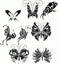 Butterfly Tattoo Design Art File Free CDR Vectors Art