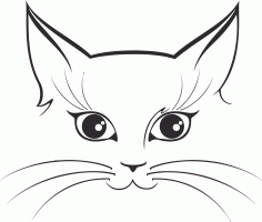 Cat Sticker File Free CDR Vectors Art