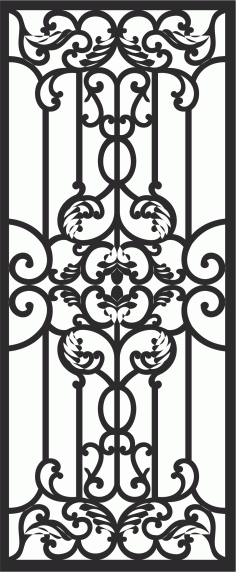 Home Iron Grills Design File Free CDR Vectors Art