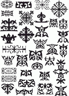 Kazakh Patterns File Free CDR Vectors Art