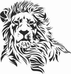 Lion Stencil File Free CDR Vectors Art