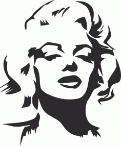 Marilyn Monroe Stencil File Free CDR Vectors Art