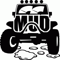 Mud Offroad Sticker File Free CDR Vectors Art