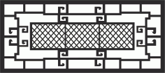 Window Grill File Free CDR Vectors Art