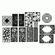 Cnc Panel Laser Cut Pattern File cn-h174 Free CDR Vectors Art
