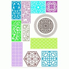 Cnc Panel Laser Cut Pattern File cn-h171 Free CDR Vectors Art