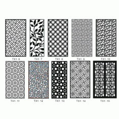 Cnc Panel Laser Cut Pattern File cn-h163 Free CDR Vectors Art