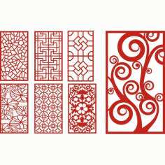 Cnc Panel Laser Cut Pattern File cn-h155 Free CDR Vectors Art
