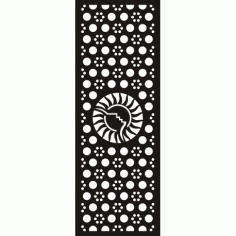 Cnc Panel Laser Cut Pattern File cn-h142 Free CDR Vectors Art