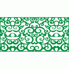 Cnc Panel Laser Cut Pattern File cn-h136 Free CDR Vectors Art